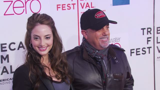 stockvideo's en b-roll-footage met alexa ray joel and billy joel at the premiere of 'last play at shea' 9th annual tribeca film festival at new york ny - billy joel