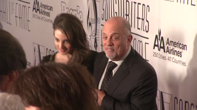 stockvideo's en b-roll-footage met alexa ray joel and billy joel at the songwriters hall of fame 2011 annual awards gala at new york ny - billy joel