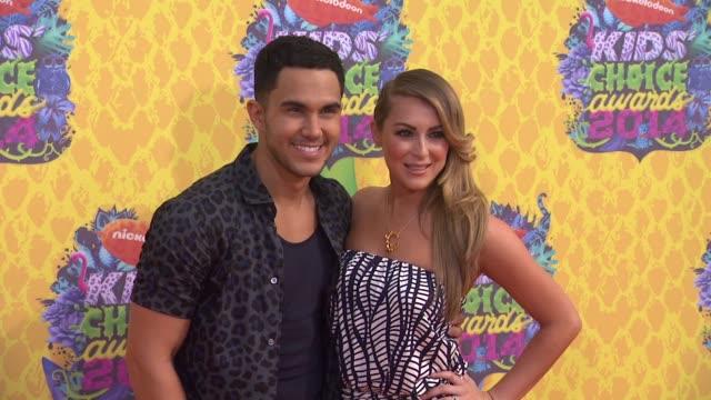 Alexa Vega and Carlos PenaVega at Nickelodeon's 27th Annual Kids' Choice Awards at USC Galen Center on March 29 2014 in Los Angeles California