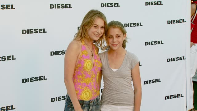 alexa vega and makenzie vega at the diesel celebrates the opening of the melrose place flagship store at diesel melrose place in los angeles,... - alexa penavega stock videos & royalty-free footage