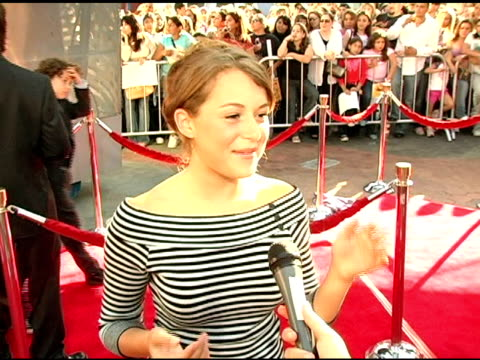 alexa vega on how she got to the premiere at the 'raise your voice' premiere on october 3, 2004. - alexa penavega stock videos & royalty-free footage