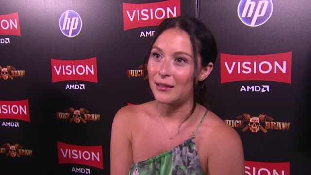 alexa vega on what brings her out, her thoughts on robert rodriguez and amd partnering up, how these new enhanced graphics effect her as an actress,... - alexa penavega stock videos & royalty-free footage