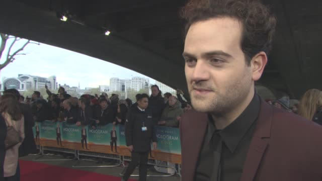 alexander black on working with tom hanks, being in his first feature film, reseaching his role at 'a hologram for the king' uk film premiere at bfi... - bfi southbank stock videos & royalty-free footage