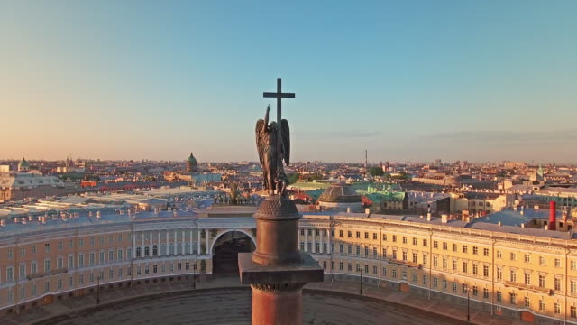 alexander column - st. petersburg russia stock videos & royalty-free footage