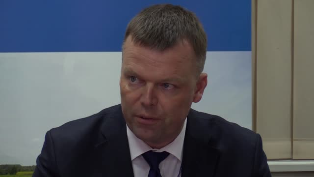 Alexander Hug Principal Deputy Chief Monitor of the OSCE Special Monitoring Mission to Ukraine speaks during a press conference in Kiev Ukraine on...