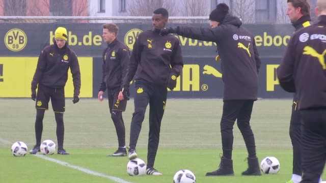 Alexander Isak of Borussia Dortmund takes part in his first training session since signing for the club from AIK Solna on January 25 2017 in Dortmund...