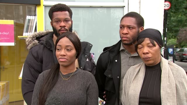 stockvideo's en b-roll-footage met family appeal for help as police release cctv footage england london hammersmith ext floral tributes and message near where alexander kareem was... - crime and murder