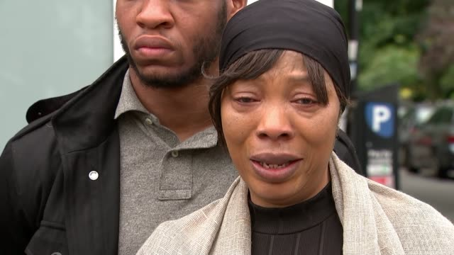 family appeal for help as police release cctv footage england london hammersmith ext khafi kareem interview sot victoria oluniluyi interview sot - crime and murder stock videos & royalty-free footage
