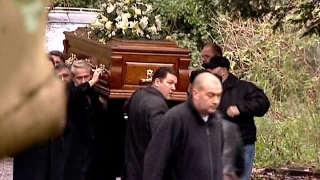 alexander litvinenko inquiry: first day; lib / highgate cemetery: pallbearers carrying coffin of alexander litvinenko - highgate stock videos & royalty-free footage