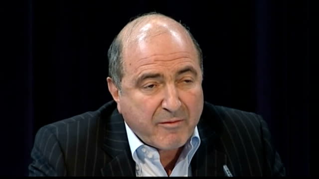 british prosecutors want to extradite former russian spy tx london int boris berezovsky press conference - 実業家 ボリス・ベレゾフスキー点の映像素材/bロール