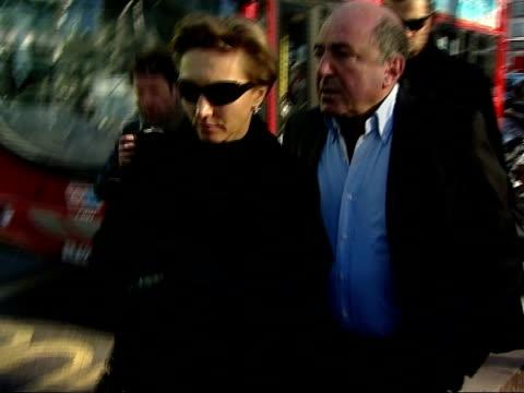 wife launches new campaign statement / photocall maria litvinenko along with family friend boris berezovsky - 実業家 ボリス・ベレゾフスキー点の映像素材/bロール