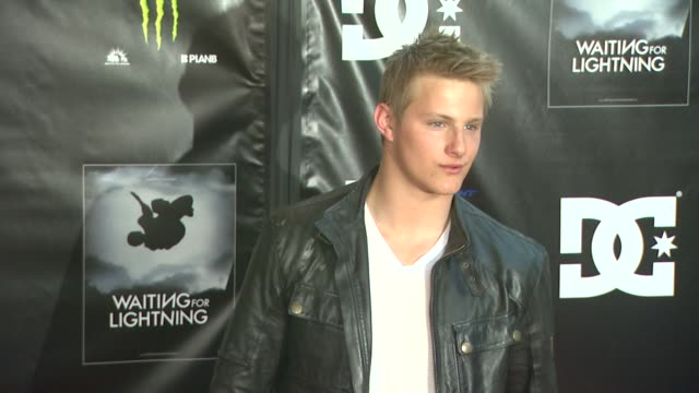alexander ludwig at waiting for lightning screening and afterparty presented by dc shoes a documentary about skateboarder danny way on 4/10/12 in los... - dc shoes stock videos & royalty-free footage