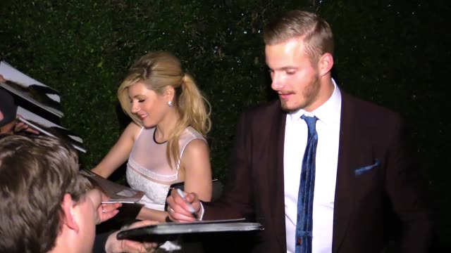 Alexander Ludwig Katheryn Winnick greet fans at the Vanity Fair Fiat Young Hollywood in Hollywood Celebrity Sightings in Los Angeles CA on