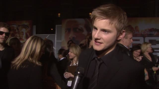 Alexander Ludwig on being in the film and on what he hopes the audience takes away from the film at the 'Race to Witch Mountain' Premiere at Los...