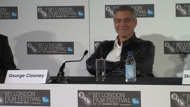 vídeos de stock, filmes e b-roll de alexander payne and jim burke on the importance of dialogue and visuals at the the descendants press conference at london england - alexander payne