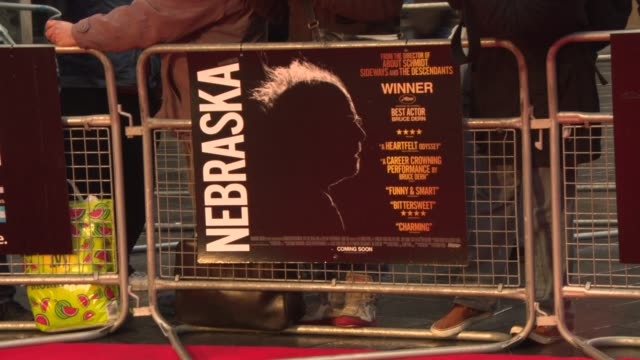 vídeos de stock, filmes e b-roll de interview alexander payne on road trips on award season audience reactions filming in nebraska at 'nebraska' red carpet at odeon west end on october... - alexander payne
