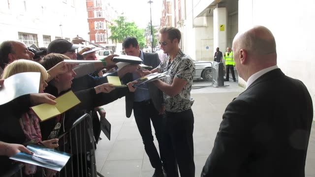 Alexander Skarsgard at BBC Radio One at Celebrity Sightings in London on July 5 2016 in London England