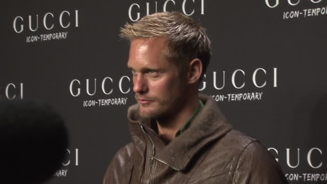 Alexander Skarsgard at the Gucci IconTemporary Flash Sneaker Store Launch at New York NY