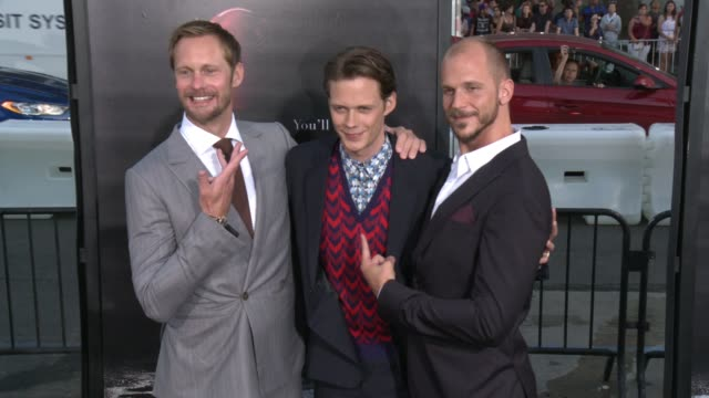 Alexander Skarsgard Bill Skarsgard Gustav Skarsgard at It Premiere in Los Angeles CA