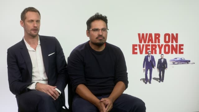 INTERVIEW Alexander Skarsgard Michael Pena on coming from 'Tarzan' playing a very different character at 'War on Everyone' Interviews on September 28...