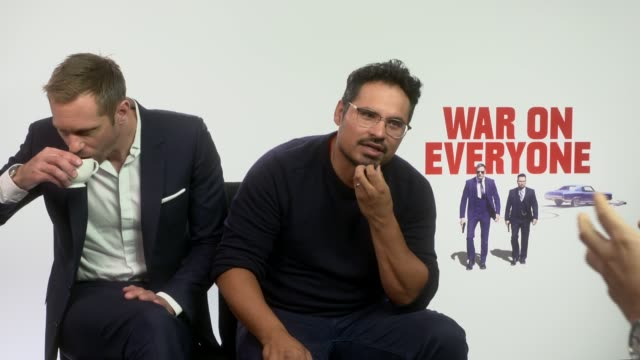 INTERVIEW Alexander Skarsgard Michael Pena on their bromance at 'War on Everyone' Interviews on September 28 2016 in London England