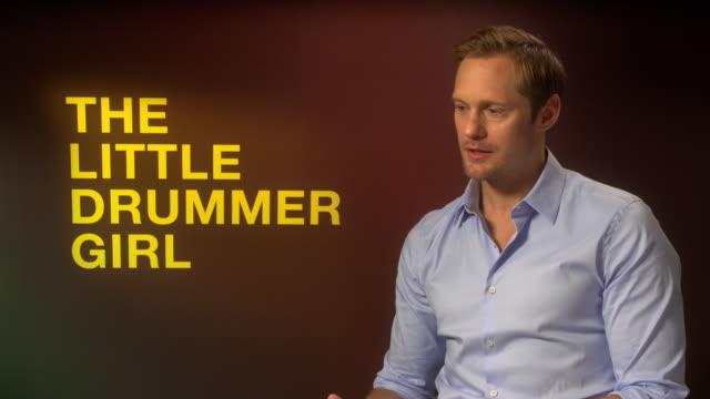 INTERVIEW Alexander Skarsgard on what makes cult TV in particular 'Big Little Lies' at 'The Little Drummer Girl' Interviews 62nd BFI London Film...