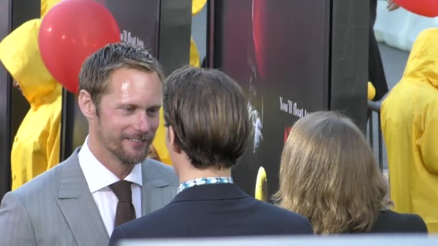 Alexander Skarsgard outside the IT Premiere at TCL Chinese Theatre in Hollywood in Celebrity Sightings in Los Angeles