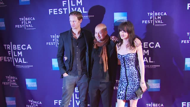 Alexander Skarsgard Tarik Saleh and Juliette Lewis at the Premiere Of 'Metropia' 9th Annual Tribeca Film Fest at New York NY
