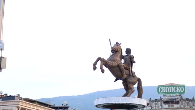 alexander the great monument - skopje stock videos and b-roll footage