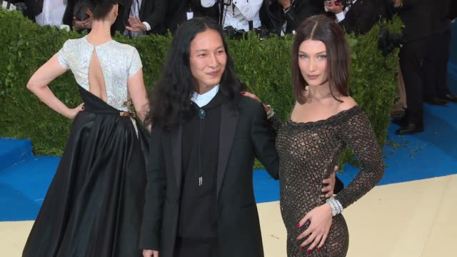 alexander wang and bella hadid at rei kawakubo/comme des garcons art of the inbetween costume institute gala arrivals at the metropolitan museum of... - bella hadid stock videos & royalty-free footage