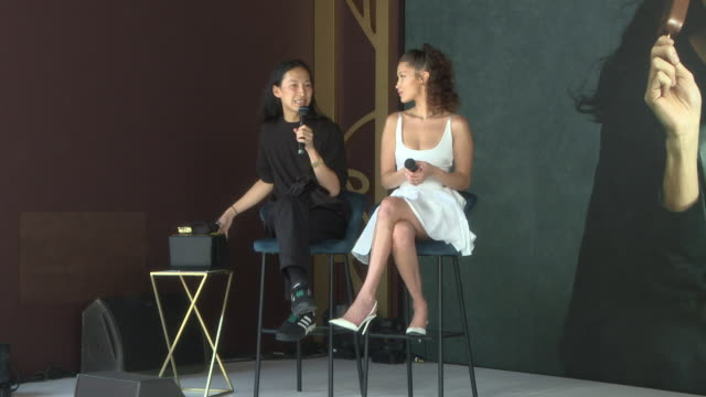 interview alexander wang bella hadid on designing the cooler bag at magnum x alexander wang launch the 71st annual cannes film festival on may 10... - bella hadid stock videos & royalty-free footage