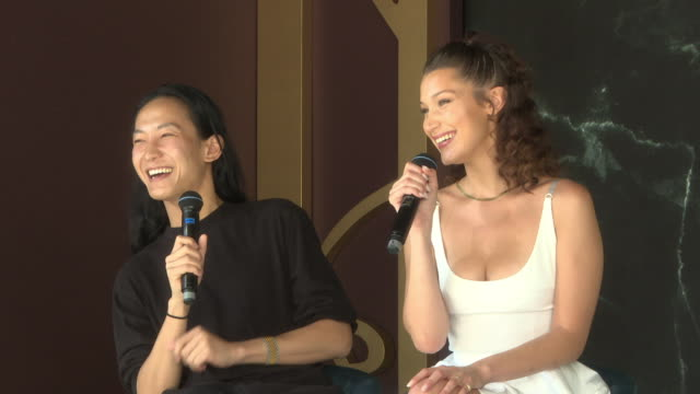 interview alexander wang bella hadid on having a cameo in 'ocean's 8' if she has any plans start a movie career at magnum x alexander wang launch the... - bella hadid stock videos & royalty-free footage