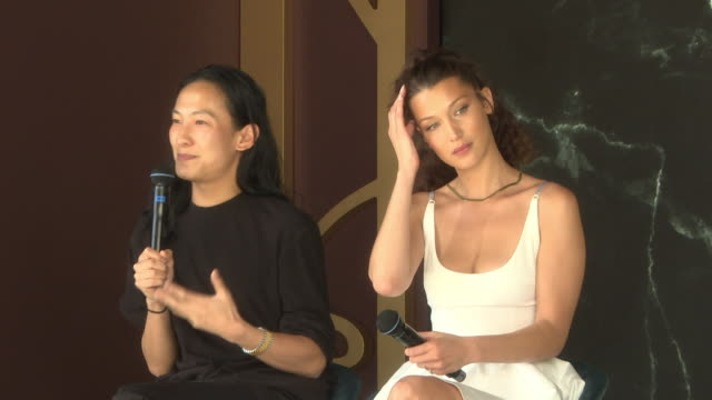 interview alexander wang bella hadid on their best advice for pleasure seekers at magnum x alexander wang launch the 71st annual cannes film festival... - bella hadid stock videos & royalty-free footage