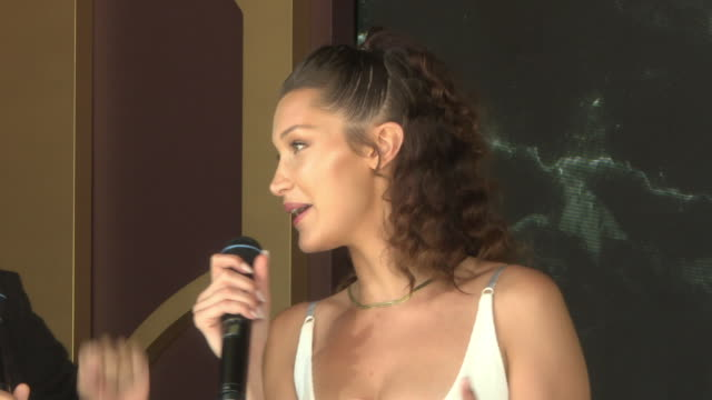interview alexander wang bella hadid on their experiences of portugal at magnum x alexander wang launch the 71st annual cannes film festival on may... - bella hadid stock videos & royalty-free footage