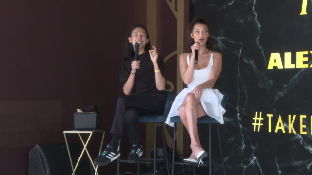 interview alexander wang on describing bella hadid as an ice cream at magnum x alexander wang launch the 71st annual cannes film festival on may 10... - bella hadid stock videos & royalty-free footage