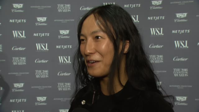 INTERVIEW Alexander Wang talks about coming to support his friend Abel at WSJ Magazine Innovator Awards at MOMA on November 02 2016 in New York City