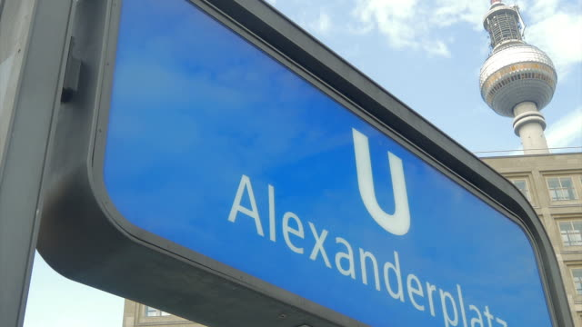alexanderplatz, berlin,u bahn,zo, - alexanderplatz stock videos & royalty-free footage