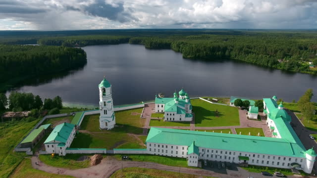alexander-svirsky monastery, russia - russian culture stock videos & royalty-free footage