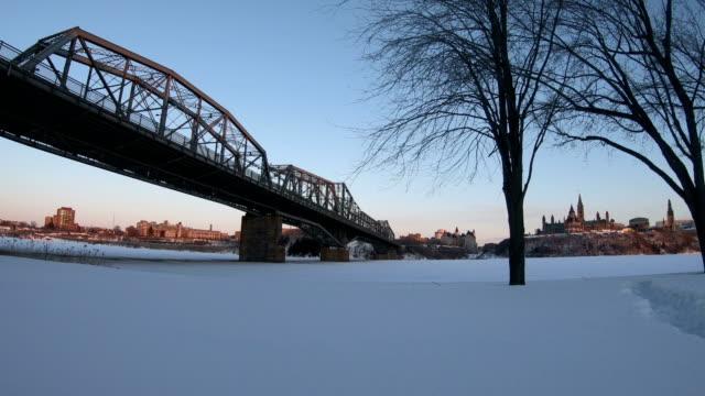 alexandra bridge and the ottawa river - quebec stock videos & royalty-free footage