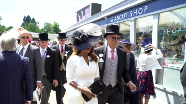 alexandra burke at ascot racecourse on june 21 2018 in ascot england - milliner stock videos and b-roll footage