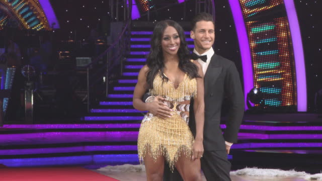 Alexandra Burke Gorka Marquez at 'Strictly Come Dancing' The Live Tour at Arena Birmingham on January 18 2018 in Birmingham England