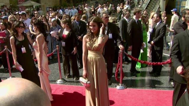 alexandra chando at the 2007 daytime emmy awards at the kodak theatre in hollywood, california on june 15, 2007. - デイタイム・エミー賞点の映像素材/bロール