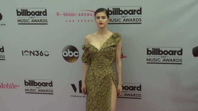 Alexandra Daddario at the 2017 Billboard Music Awards Arrivals at TMobile Arena on May 21 2017 in Las Vegas Nevada