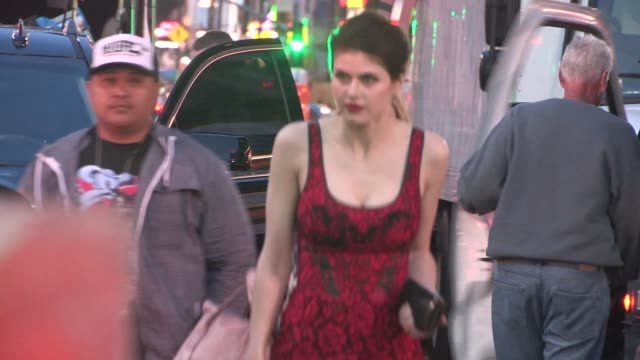 Alexandra Daddario departs the San Andreas Premiere in Hollywood in Celebrity Sightings in Los Angeles