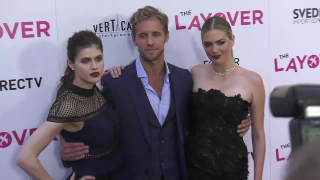 Alexandra Daddario Matt Barr Kate Upton at 'The Layover' Premiere in Los Angeles CA