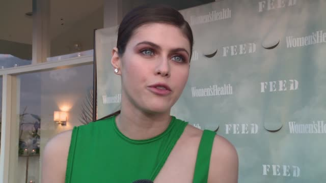 INTERVIEW – Alexandra Daddario on making the cover of the magazine on her fitness routine on shooting The Layover and its featuring her and Kate...