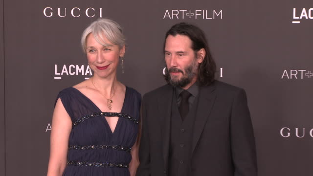 alexandra grant and keanu reeves at the 2019 lacma art+film gala honoring betye saar and alfonso cuaron and presented by gucci at lacma on november... - keanu reeves stock videos & royalty-free footage