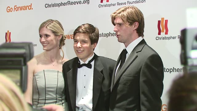 alexandra reeve will reeve and matthew reeve at the christopher reeve foundation celebration of the strength and courage of christopher and dana... - christopher and dana reeve foundation stock videos and b-roll footage