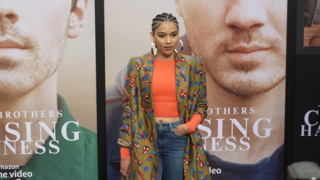 alexandra shipp at the jonas brothers' chasing happiness world premiere at regency bruin theatre on june 03 2019 in los angeles california - bruin theater stock videos & royalty-free footage