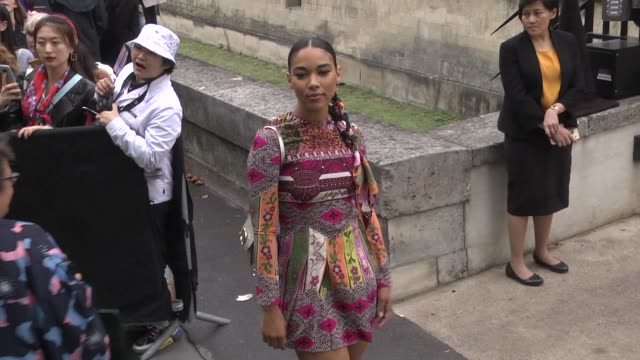 alexandra shipp attends the valentino womenswear spring/summer 2020 show as part of paris fashion week on september 29 2019 in paris france - celebrity sightings stock videos & royalty-free footage